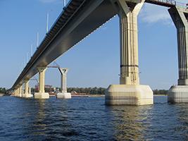 Мост через Волгу г. Нижний-Новгород
